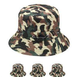 72 Units of Kids Camouflage Summer Hat - Bucket Hats