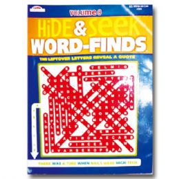 80 Units of Hide & Seek Word Finds - Crosswords, Dictionaries, Puzzle books