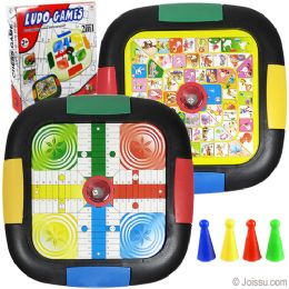 24 Units of 2-IN-1 Ludo Board Games - Dominoes & Chess