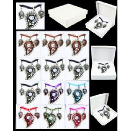 96 Units of EUROPEAN PENDANT ASSORTED COLOR - Necklace