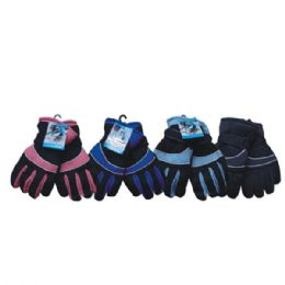 36 Units of Winter Ski Glove For Women Pacjked Assorted Colors - Ski Gloves