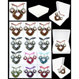 96 Units of EUROPEAN PENDANT DIAMOND SHAPE IN ASSORTED COLOR - Necklace Sets