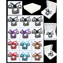 96 Units of EUROPEAN PENDANT IN SQUARE SHAPE ASSORTED COLOR - Necklace Sets