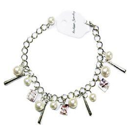 144 Units of FASHION BRACELET WITH PEARLS - Bracelets