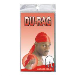 72 Units of Red Color DU-Rag - Bandanas