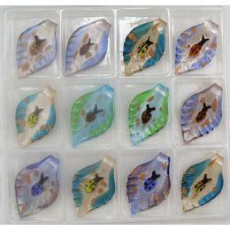 288 Units of ASSORTED COLOR LADYBUG MURANO PENDANT VENETIAN ARTE GLASS - Necklace