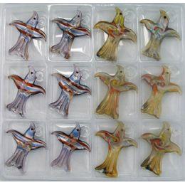 288 Units of ASSORTED COLOR BIRDS MURANO PENDANT VENETIAN ARTE GLASS - Necklace