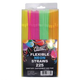 72 Units of 225 Pack Straw Neon - Straws and Stirrers