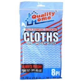 48 Units of Multi Purpose Non Woven Cloths 8pk - Scouring Pads & Sponges