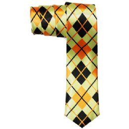 72 Units of Men's Slim Tie With Pattern - Neckties