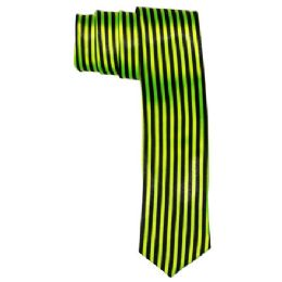 72 Units of Men's Green And Black Striped Tie - Neckties