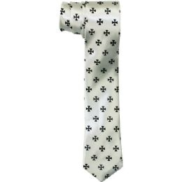 72 Units of Men's Sim Silver Tie - Neckties