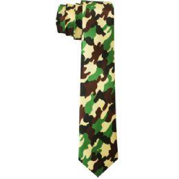 72 Units of Men's Slim Camo Style Tie - Neckties