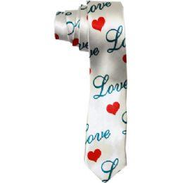 72 Units of Men's Slim Love Tie - Neckties