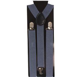 60 Units of Adult Suspender In Solid Grey - Suspenders