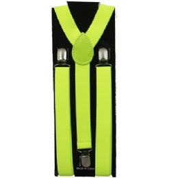 60 Units of Adult Suspender In Lime Green - Suspenders