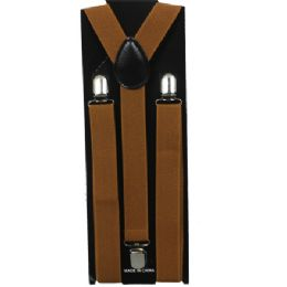 60 Units of Adult Light Brown Suspender - Suspenders