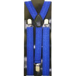48 Units of Suspenders In Sparkly Blue - Suspenders