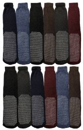 180 Units of Yacht & Smith Non Slip Gripper Bottom Men's Winter Thermal Tube Socks Size 10-13 - Mens Thermal Sock