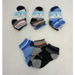 48 Units of 3 Pair Boy's Anklet Socks 2-4 [Sports - Boys Ankle Sock