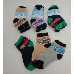 48 Units of Boy's Anklet Socks 4-6 [Cars] - Boys Ankle Sock