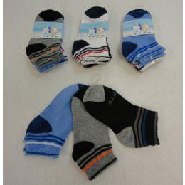 48 Units of 3pr Boy's Anklet Socks 4-6 [Sports] - Boys Ankle Sock