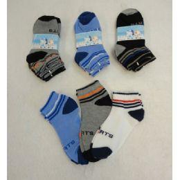 60 Units of Boy's Anklet Socks 6-8 [Sports] - Boys Ankle Sock