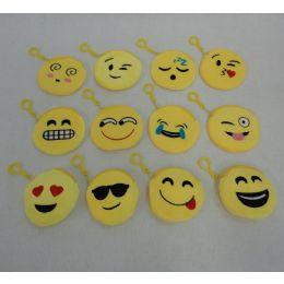 "48 Units of 4"" Zippered Change Purse-Emojis - Wallets & Handbags"