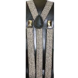 48 Units of KIDS SPARKLY SILVER SUSPENDERS - Suspenders