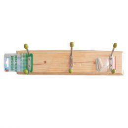48 Units of Wood Hook 3pc - Wall Decor