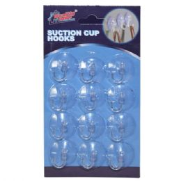 48 Units of Suction Cup Hooks 12 Pack - Wall Decor