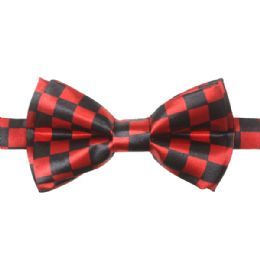 72 Units of KID BOWTIE 516 RED CHECKERED - Neckties