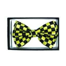 48 Units of Checkered Yellow Bowtie 046 - Neckties