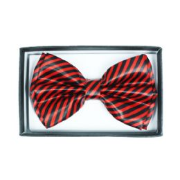 48 Units of Red and Black Striped Bowtie 062 - Neckties