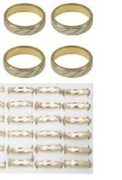 108 Units of Stainless Steel Rings Two Tone - Rings