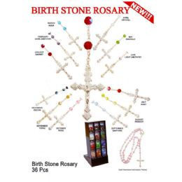 36 Units of BIRTHSTONE ROSARY NECKLACES - Necklace