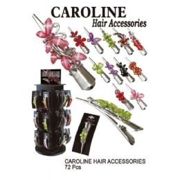 72 Units of CAROLINE HAIR ACCSSORIES FLOWERS - Hair Accessories