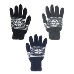 144 Units of WOMENS FASHION WINTER GLOVE - Knitted Stretch Gloves