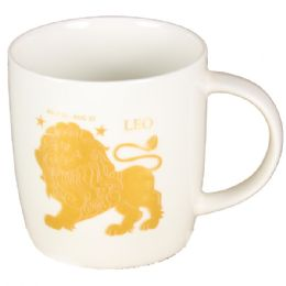 72 Units of White Coffee Mug With Lion - Coffee Mugs