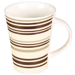 72 Units of Coffee Mug Striped - Coffee Mugs