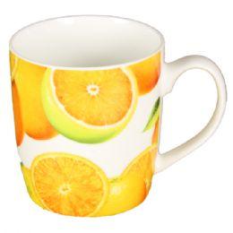 72 Units of Coffee Mug Orange Pattern - Coffee Mugs