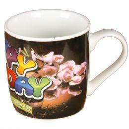 72 Units of Happy Birthday Coffee Mug - Coffee Mugs
