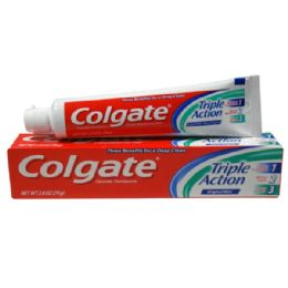48 Units of Colgate TP 2.8oz Triple Action - Toothbrushes and Toothpaste