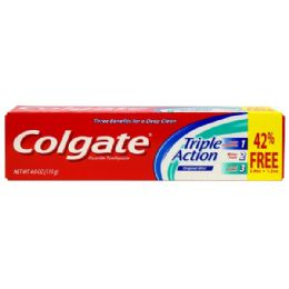 48 Units of Colgate TP 4oz Triple Action - Toothbrushes and Toothpaste
