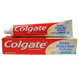 24 Units of Colgate 8.2oz Tartar Protection Crisp Mint - Toothbrushes and Toothpaste