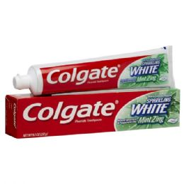 24 Units of Colgate 8oz Sparkling White Mint Zing - Toothbrushes and Toothpaste