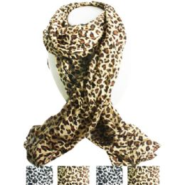 36 Units of Cheetah Style Fashion Scarf in Assorted Colors - Womens Fashion Scarves