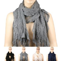 36 Units of WOMENS FASHION SCARF ASSORTED COLORS - Womens Fashion Scarves