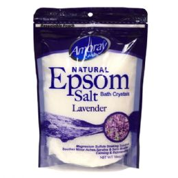 36 Units of Amoray Epsom Salt Bag 16oz Lavender - Pain and Allergy Relief