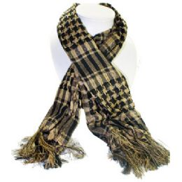 72 Units of Palestine Scarves In Black And Beige - Womens Fashion Scarves